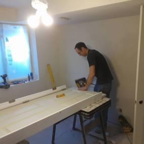 General contractor installing new doors for home improvement in Arvada
