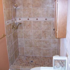 Bathroom remodeling for walk in shower in Morrison, CO
