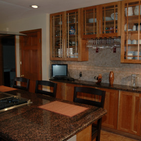 Kitchen remodeling in Wheat Ridge, with custom bar
