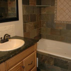Bathroom remodeling in Denver with tub shower combination