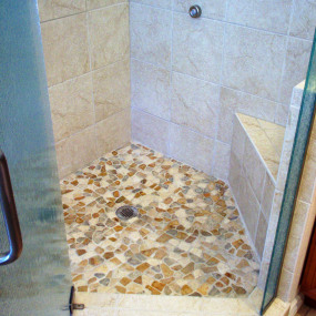 Custom tile in bathroom renovation in Lakewood, CO