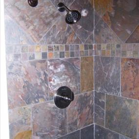 Custom tilework in shower
